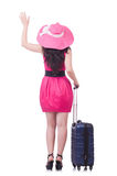Rapariga no vestido cor-de-rosa Foto de Stock