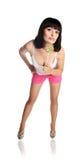 Rapariga nos shorts imagem de stock