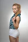 Rapariga nos shorts Imagens de Stock