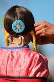 Rapariga - Powwow do nativo americano Imagens de Stock