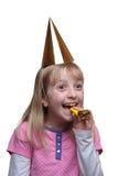 Rapariga que aprecia um partido foto de stock royalty free