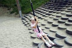 Rapariga que balanç 02 Imagem de Stock