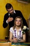 Rapariga que espera seu noivo Foto de Stock Royalty Free