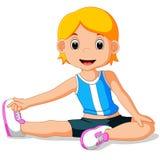 Rapariga que faz a ioga ilustração stock
