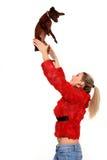 Rapariga com cão Fotos de Stock