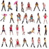 Rapariga que levanta em posições diferentes Imagem de Stock Royalty Free