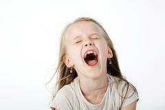 Menina gritando Imagens de Stock