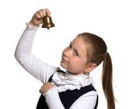 Rapariga que soa um sino dourado Fotografia de Stock Royalty Free