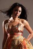 Rapariga 'sexy' do retrato com olhar sensual Imagens de Stock Royalty Free