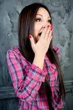 A rapariga surpreendida Fotografia de Stock Royalty Free