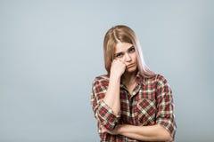 Rapariga triste Fotografia de Stock Royalty Free