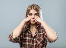 Rapariga triste Foto de Stock Royalty Free