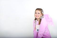 A rapariga um anjo Fotos de Stock Royalty Free