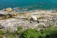 Rapaz Koh Viewpoint Olhe para fora o lado do oceano Koh Samui imagem de stock royalty free