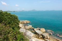 Rapaz Koh Viewpoint Olhe para fora o lado do oceano Koh Samui foto de stock royalty free
