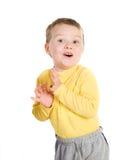 Rapaz pequeno alegre Fotografia de Stock Royalty Free