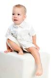 Rapaz pequeno alegre Fotos de Stock Royalty Free