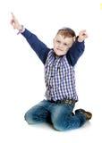 Rapaz pequeno alegre imagem de stock royalty free