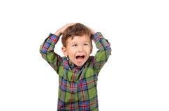 Rapaz pequeno bonito Imagem de Stock