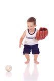 Menino desportivo pequeno bonito Imagens de Stock Royalty Free