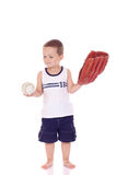 Menino desportivo pequeno bonito Fotos de Stock