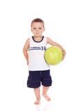Menino desportivo pequeno bonito Imagem de Stock Royalty Free