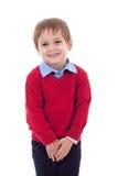 Rapaz pequeno bonito e tímido Fotos de Stock