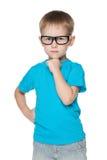 Rapaz pequeno bonito nos vidros Fotos de Stock Royalty Free