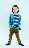 Rapaz pequeno brincalhão Imagens de Stock