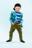 Rapaz pequeno brincalhão Imagem de Stock Royalty Free
