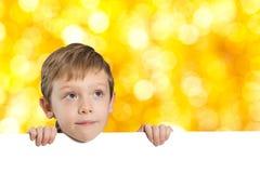Rapaz pequeno com espaço vazio Imagens de Stock Royalty Free