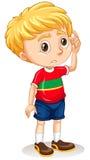 Rapaz pequeno com face triste ilustração royalty free