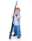 Rapaz pequeno com guitarra Fotografia de Stock