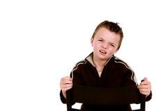 Rapaz pequeno confuso Fotografia de Stock