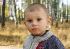 Rapaz pequeno em uma caminhada Imagem de Stock Royalty Free