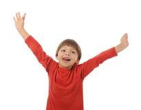 Rapaz pequeno engraçado imagem de stock royalty free