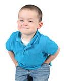 Rapaz pequeno engraçado fotografia de stock