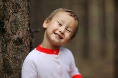 Rapaz pequeno engraçado 4 anos velho Foto de Stock Royalty Free