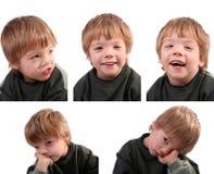 Rapaz pequeno engraçado isolado foto de stock