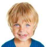 Rapaz pequeno feliz isolado Imagem de Stock