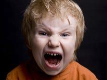 Rapaz pequeno gritando Fotos de Stock Royalty Free