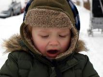 Rapaz pequeno irritado Imagens de Stock Royalty Free
