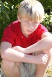 Rapaz pequeno louco Fotos de Stock