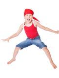 Rapaz pequeno na dança Fotografia de Stock Royalty Free