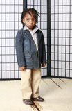 Rapaz pequeno na moda Imagens de Stock Royalty Free