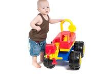 Rapaz pequeno no estúdio Fotografia de Stock Royalty Free