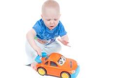 Rapaz pequeno no estúdio Imagem de Stock Royalty Free