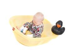 Rapaz pequeno no estúdio Foto de Stock Royalty Free