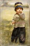 Rapaz pequeno no estilo retro Fotos de Stock