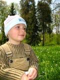 Rapaz pequeno no parque Foto de Stock Royalty Free